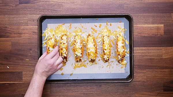 Baked supreme pizza tacos