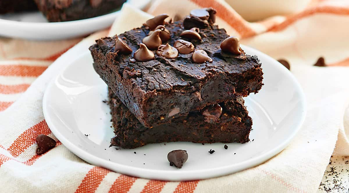 Black Bean Brownies Vegan Flourless Naturally Sweet