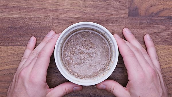 Flax egg in bowl
