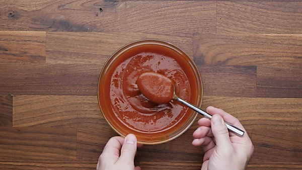 Meatloaf sauce in mixing bowl