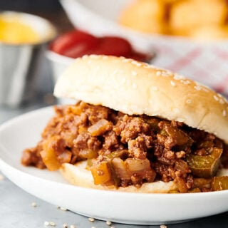 Sloppy joe on a plate