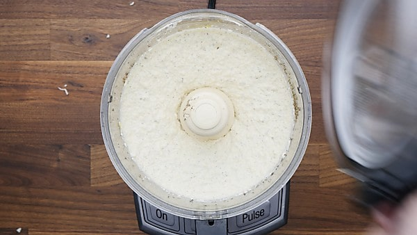 cheese filling in food processor