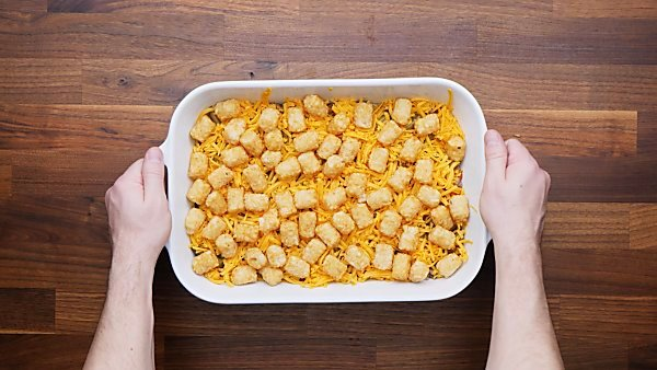 Unbaked tater tot casserole
