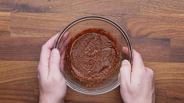 chicken marinade in mixing bowl