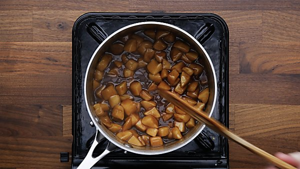cooked mini apple pie filling
