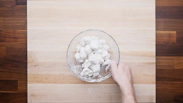 biscuit dough tossed in flour