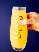 mimosa glass held