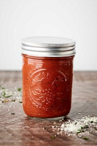 jar of pizza sauce
