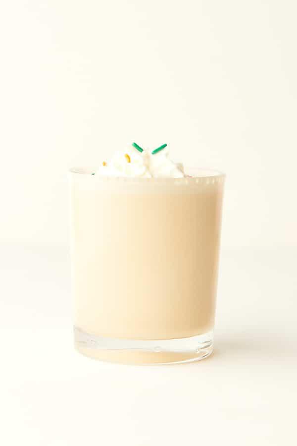 vanilla milkshake in cup