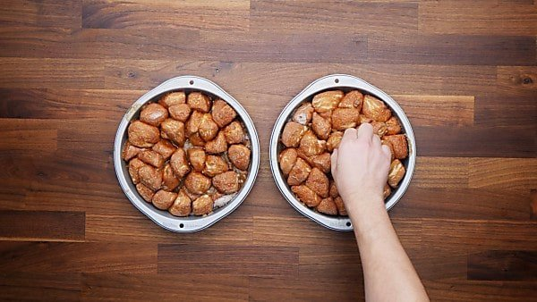 finished monkey bread in cake pans