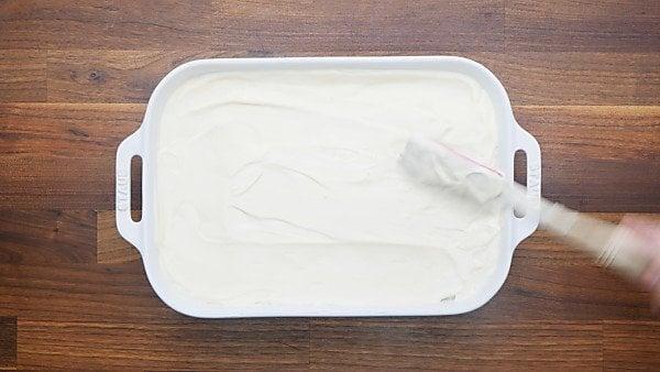 banana pudding in baking dish
