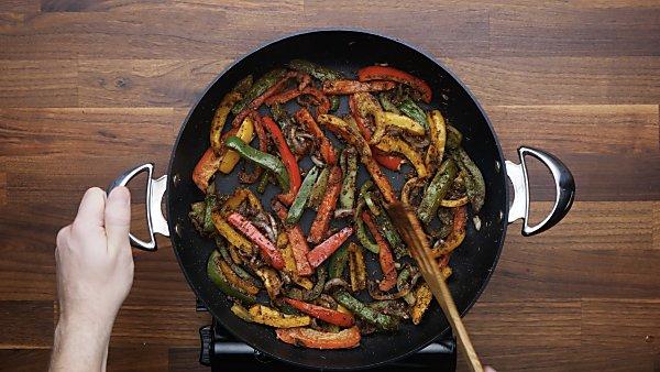veggies sauteed in skillet