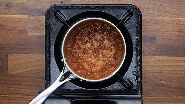 buffalo sauce in saucepan