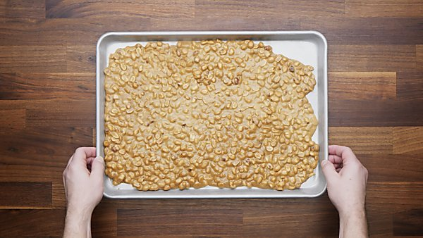 cooled brittle on baking sheet