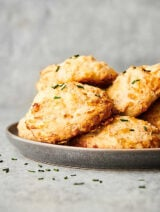 plate of drop biscuits