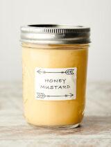 jar of honey mustard