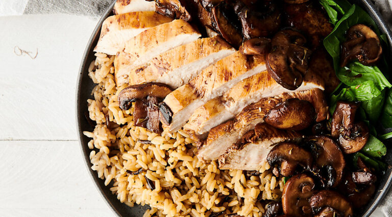 plate of balsamic chicken above
