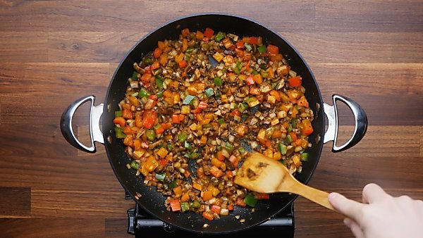 veggies cooked in skillet