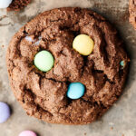 chocolate cadbury egg cookie above