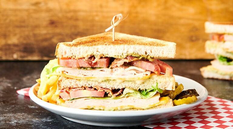 club sandwich on plate