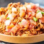 bowl of crockpot salsa chicken