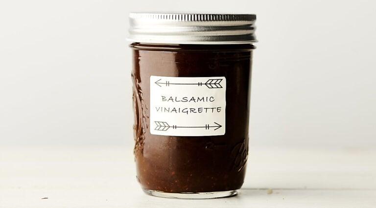 jar of balsamic vinaigrette