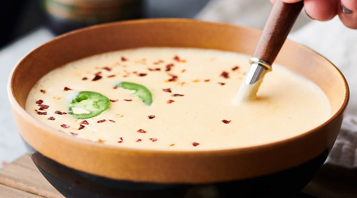 bowl of beer cheese soup
