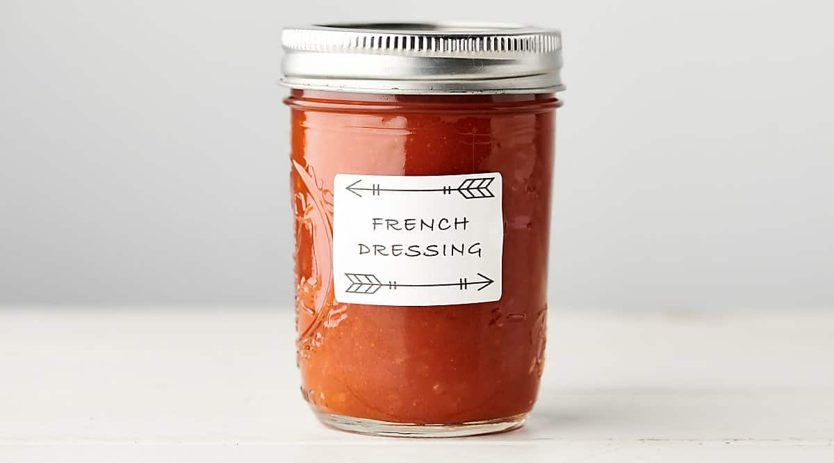 jar of healthy homemade french dressing