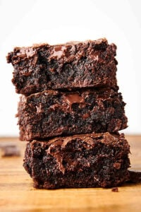 three brownies stacked