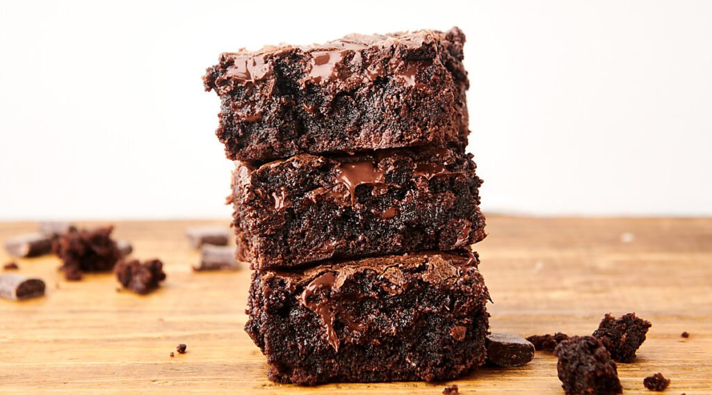 three box brownies stacked