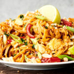plate of instant pot pad thai