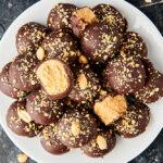 plate of peanut butter balls above