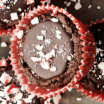 peppermint mocha cookie cups above