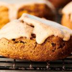 vegan pumpkin cookies on cooling rack