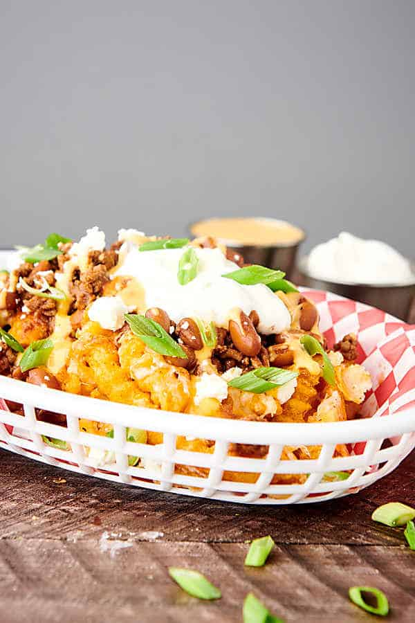basket of chili cheese fries