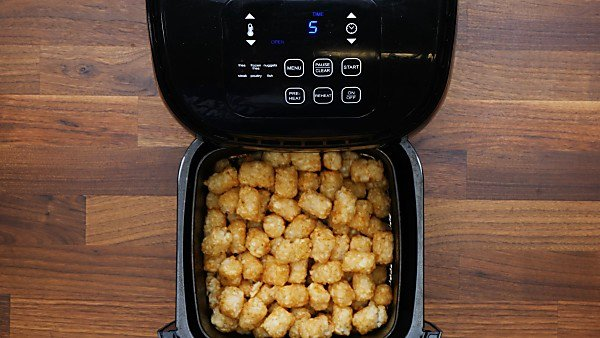 air fried tater tots in basket