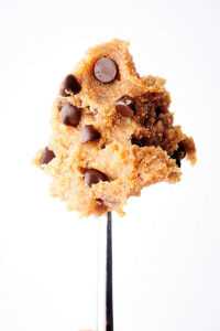 spoonful of vegan cookie dough