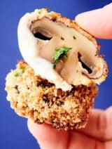 air fryer mushrooms held