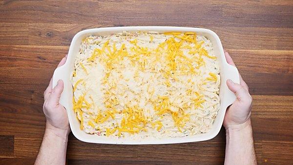 pasta in baking dish