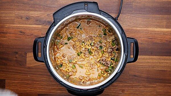 all hamburger helper ingredients in instant pot