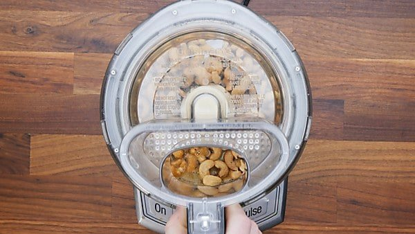 cashew cheese ingredients in food processor