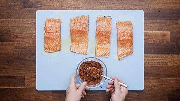 salmon seasonings in bowl