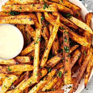 plate of cajun fries above