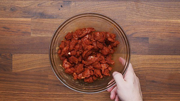 pork tossed with taco seasoning