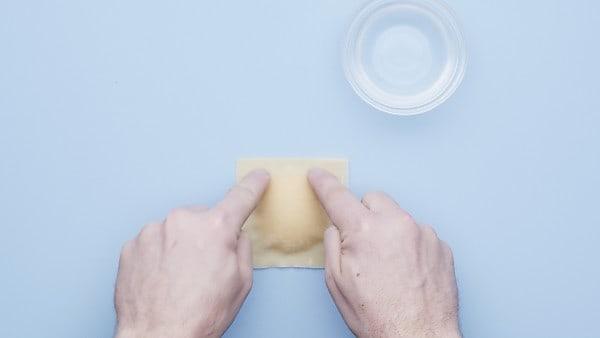 ravioli being made