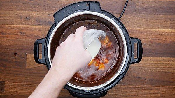 cornstarch slurry added to instant pot