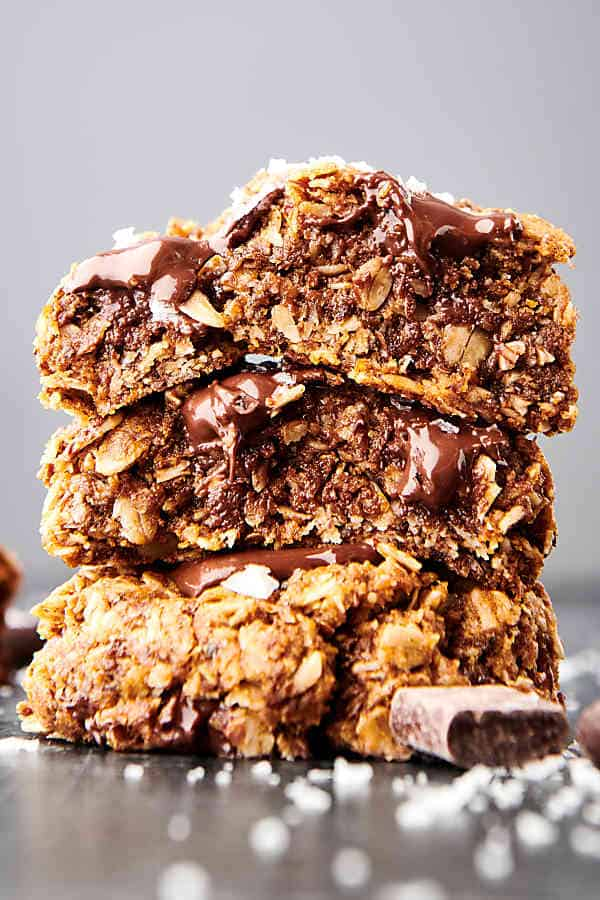 three lactation cookies stacked