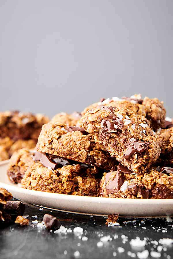plate of lactation cookies