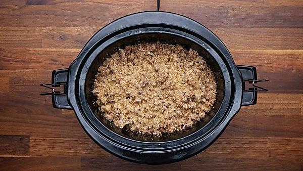 crockpot apple cobbler ingredients in slow cooker