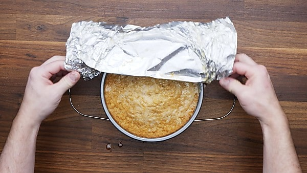 foil being taken out off of cornbread pan